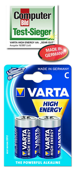 Alkaline batteries 1.5V C/LR14