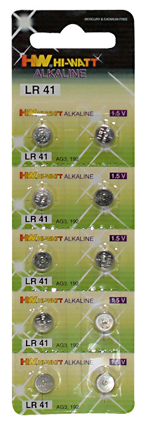 Button alkaline batteries LR41/V392