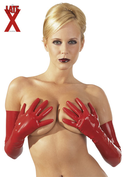 Red Latex Gloves